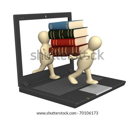 Library online - stock photo