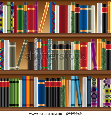 Library pattern. - stock photo