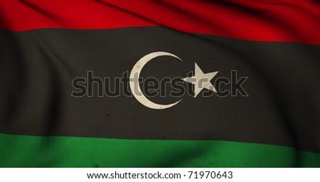 Libya Grunge flag - stock photo