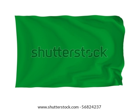 Libya. High resolution African Flag series. With fabric texture. - stock photo