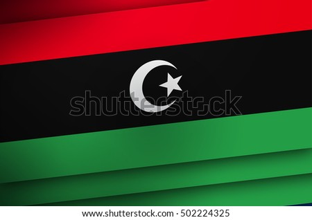 Libyan Flag Background, Libya Color Poster