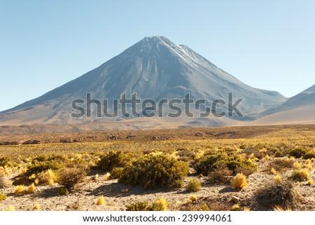 Licancabur volcano, Chile - stock photo