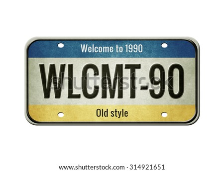 License plate. Old car number.  - stock photo