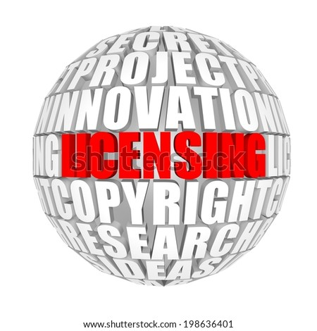 Licensing - stock photo