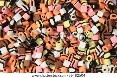 Licorice background - stock photo