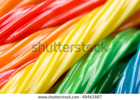 Licorice in a rainbow of colors