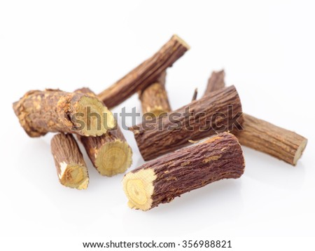 licorice stick ready for cocktail - stock photo