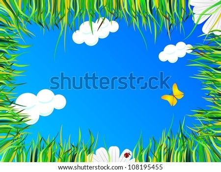lie in the grass - stock photo