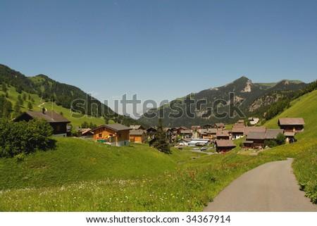 Liechtenstein village - stock photo