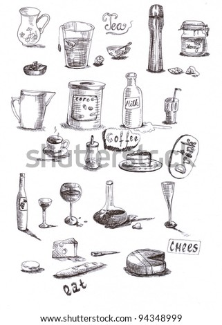 lies about everything in every kitchen - drawing marker on white paper - scan. If you prefer a vector, is also in the portfolio