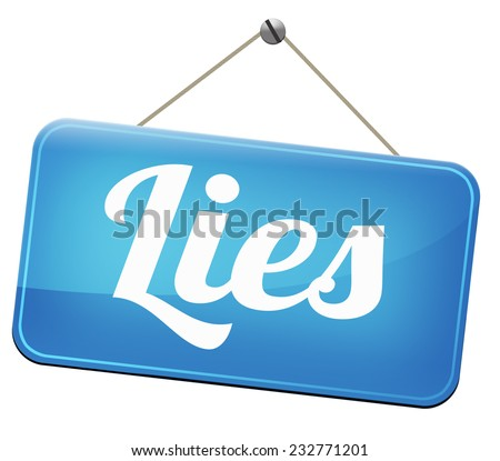 lies breaking promise break promises cheating and deception lying    - stock photo