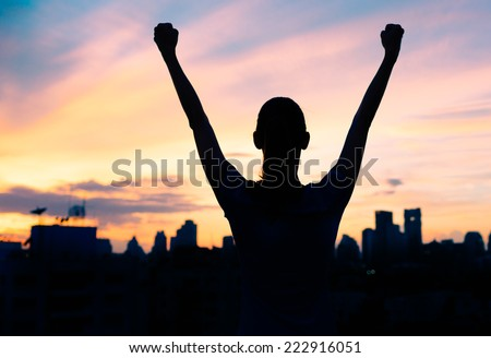 Life achievements and success concept - stock photo