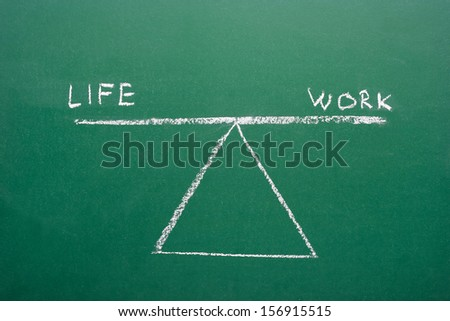 Life and work balance concept - stock photo