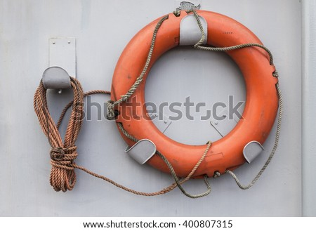 life belt - stock photo