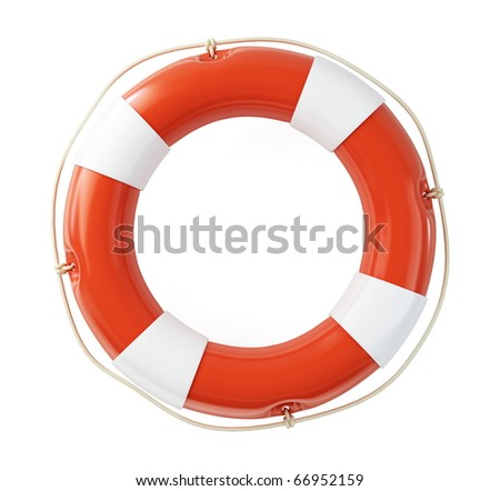 Life Buoy isolated on a white background