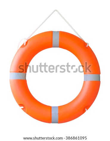 Life buoy isolated on a white background, Or Safety ring - stock photo