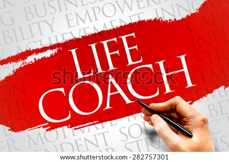 Life Coach word cloud, business concept - stock photo