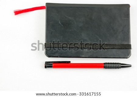 Life diary and planner - stock photo