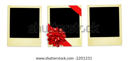 Life Events. Festive instant photo Frames (with clipping paths for easy framing your pictures and background removing if needed) - stock photo