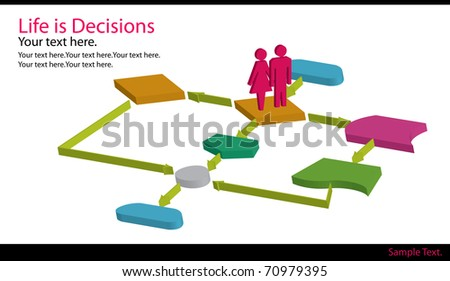 Life Flow charts - stock photo