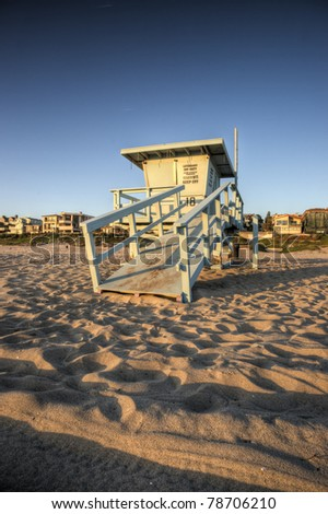 Life Guard Tower - stock photo