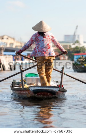 Life in the Mekong delta, Can Tho, Vietnam.