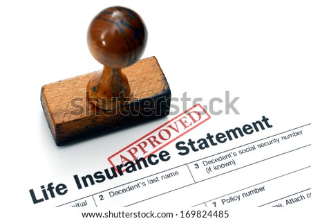 Life insurance - approved - stock photo