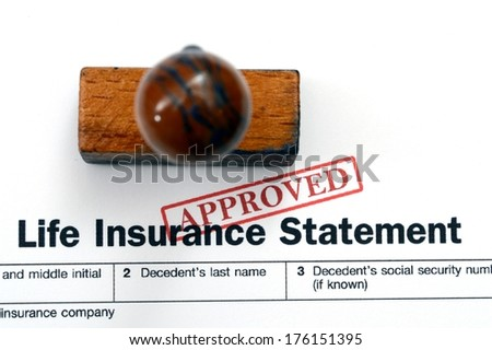 Life insurance statement - stock photo