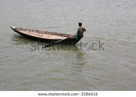 Life ion the river, Old Dhaka city,Bangladesh - stock photo