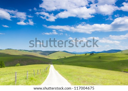Life is an open Road - stock photo