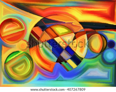 Life of forms series. Backdrop design of abstract forms and shape for works on art, painting, design and education - stock photo