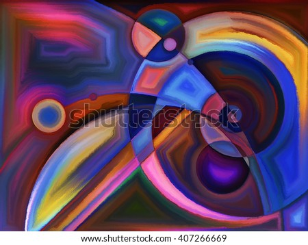 Life of forms series. Backdrop of abstract forms and shape on the subject of art, painting, design and education - stock photo
