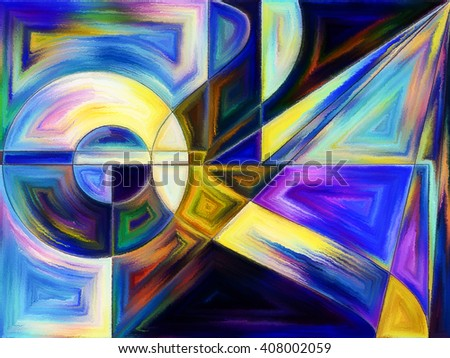 Life of forms series. Background design of abstract forms and shape on the subject of art, painting, design and education - stock photo