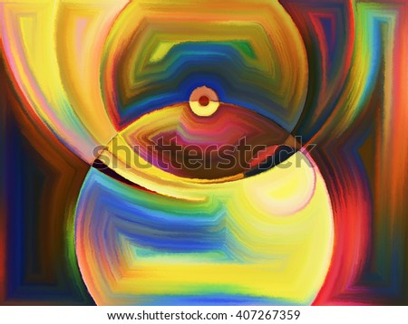 Life of forms series. Creative arrangement of abstract forms and shape as a concept metaphor on subject of art, painting, design and education - stock photo