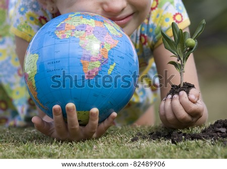 Life of the world is in our hands - stock photo