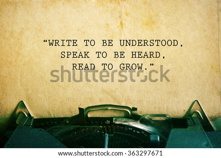 life quote. Inspirational quote on vintage paper background. Motivational background. - stock photo