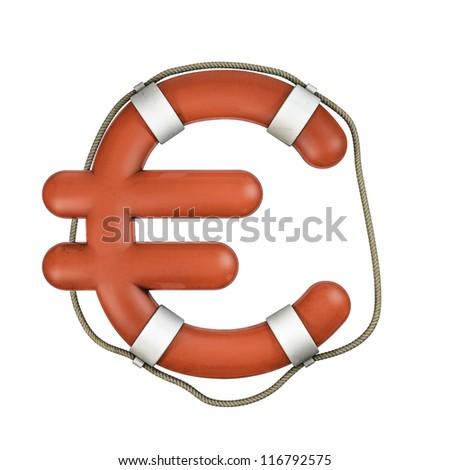 Life ring euro - stock photo