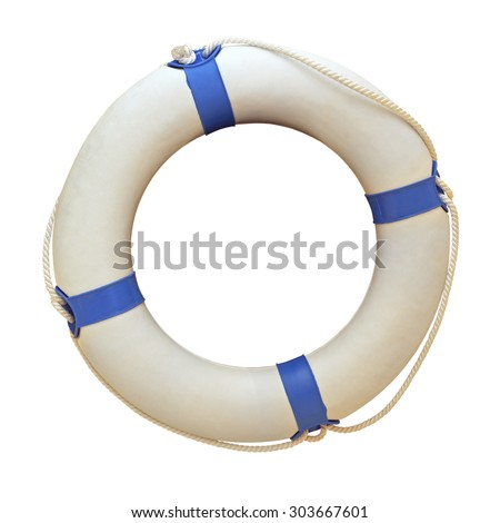Life Ring Isolated Included Clipping Path - stock photo