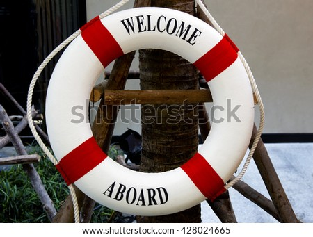 life saving float  , A life buoy for safety - stock photo