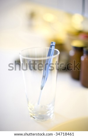 LIFE STYLE-a toothbrush in a glass