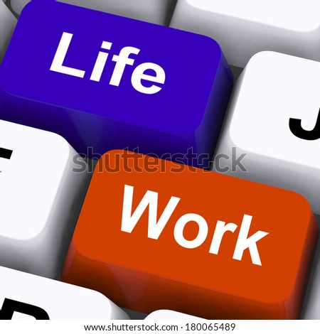 Life Work Keys Showing Balancing Job And Free Time