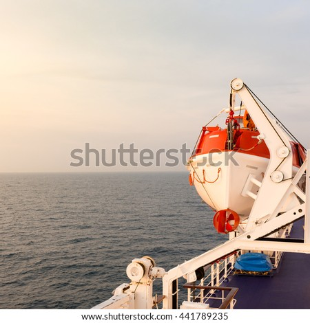 Lifeboat (rescue) - stock photo