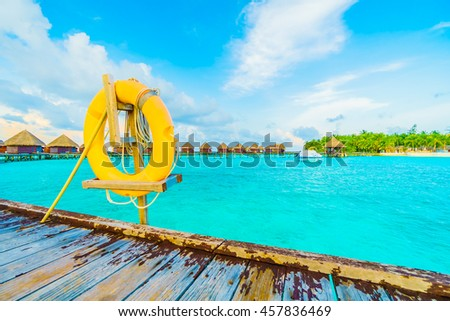 lifebouy or safety ring in maldives resort and hotel - Boost up color , Filter effect Processing