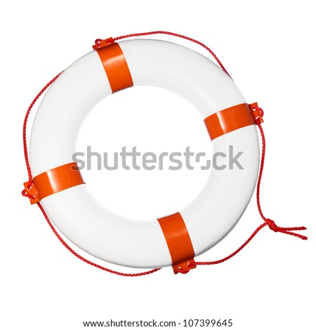 Lifebuoy isolated on white background.
