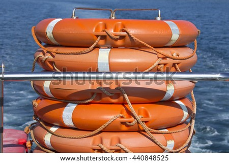 lifebuoys - stock photo