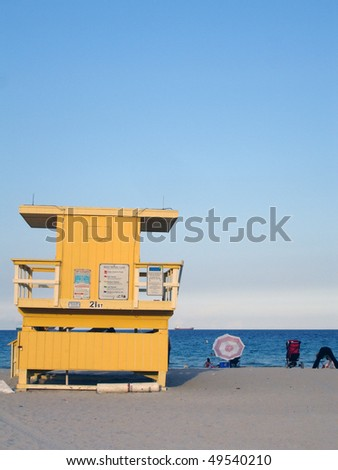 Lifeguard hut, Miami Beach