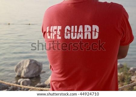 Lifeguard on duty. - stock photo
