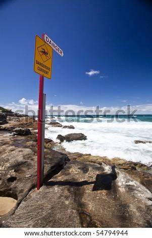Lifeguard Surfboard on Australian beach - stock photo