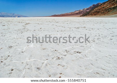 Lifeless landscape of the Death Valley. California. USA