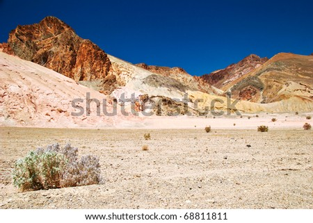 Lifeless landscape of the Death Valley. California. USA - stock photo